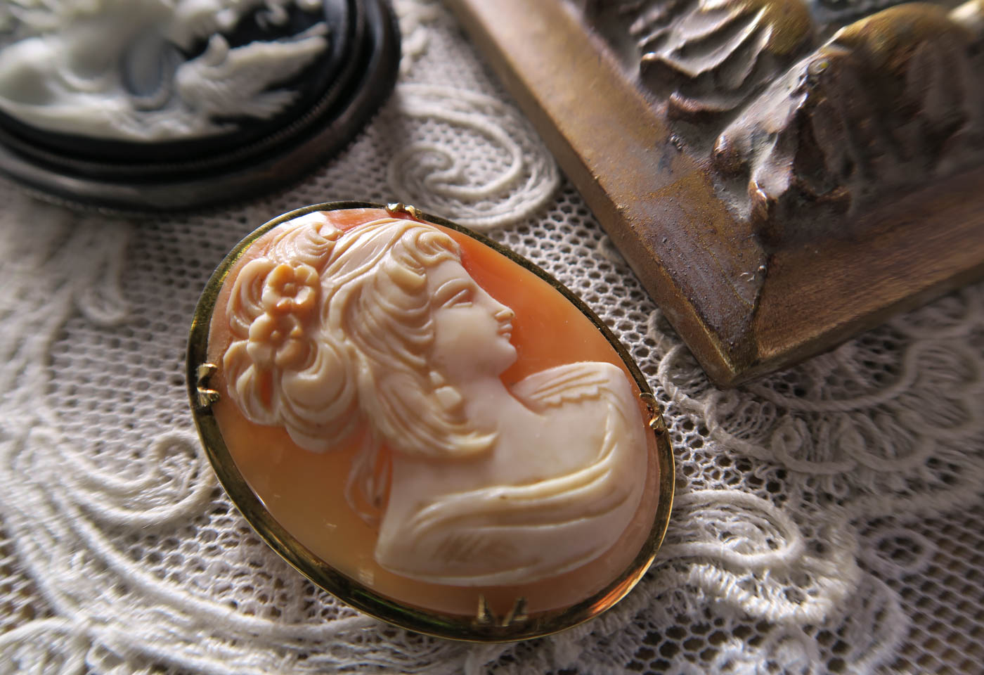 Antique brooch taken with taken with Canon PowerShot SX720 HS compact camera