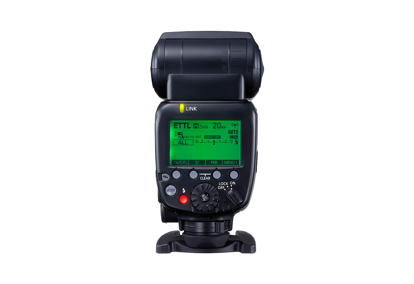 User menus on the Canon Speedlite 600EX II-RT flash