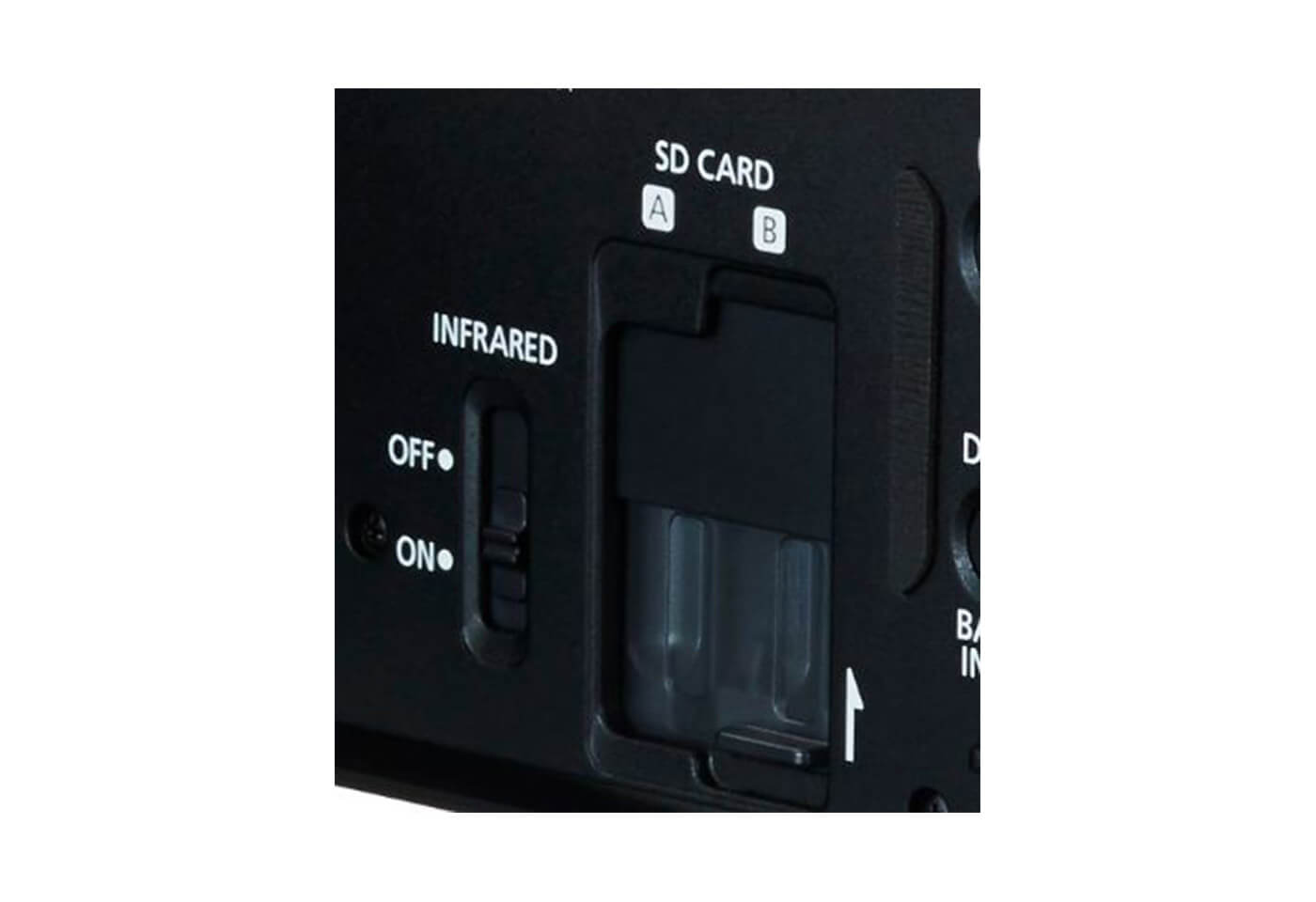 Dual card slots on Canon XA30 digital camcorder