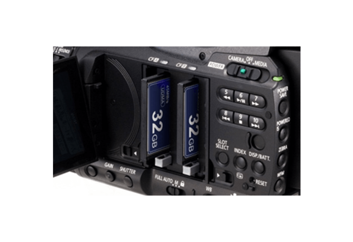 XF100 Dual CF card recording