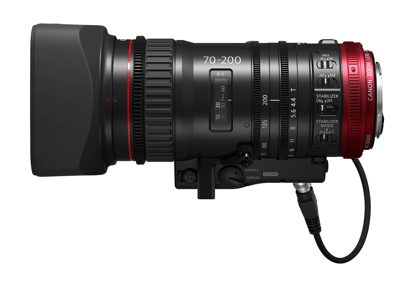 Product image of Canon CN E70-200mm T4.4 cinema lens