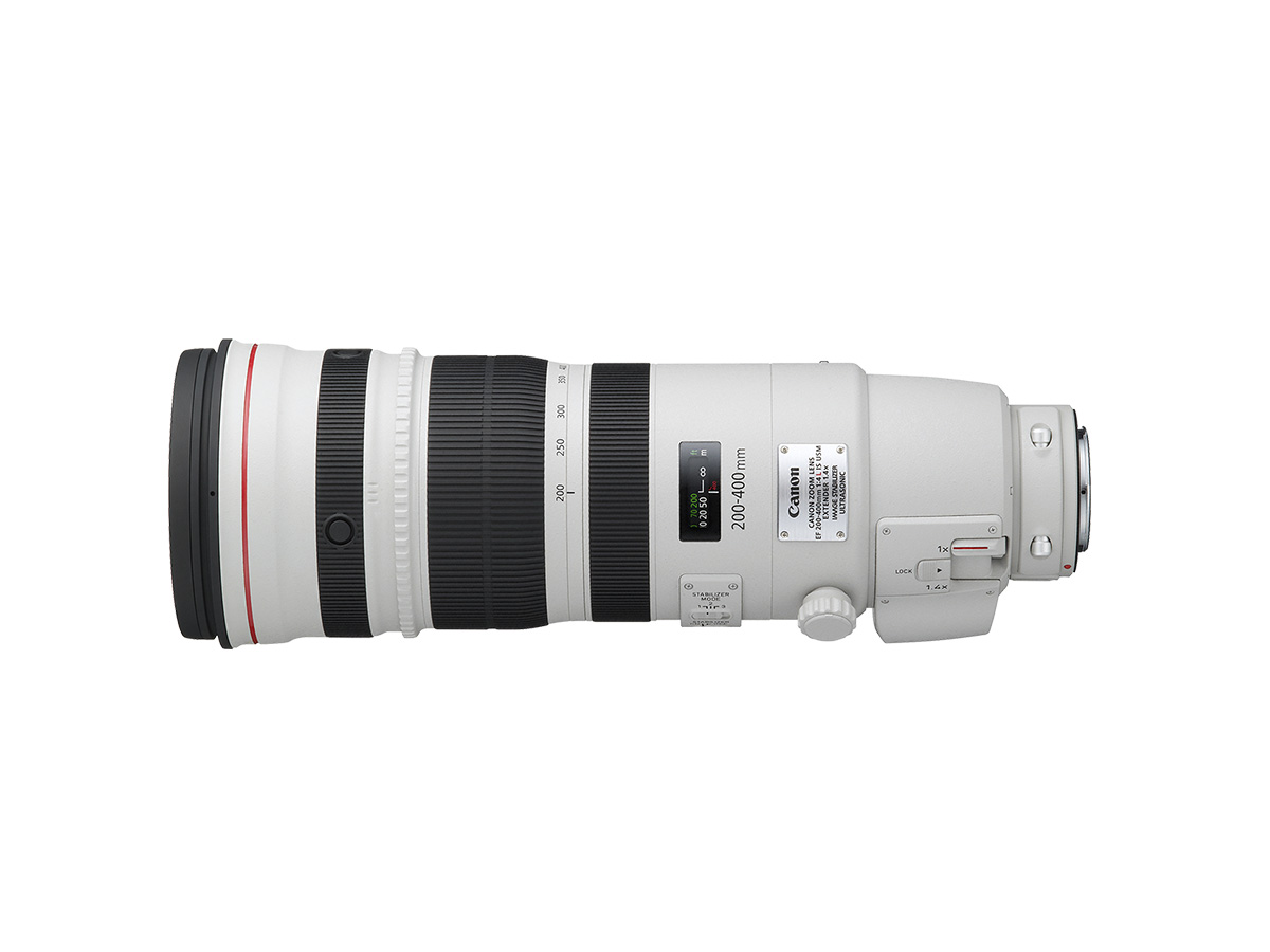 Side view of EF 200-400mm f/4L IS USM Extender 1.4X