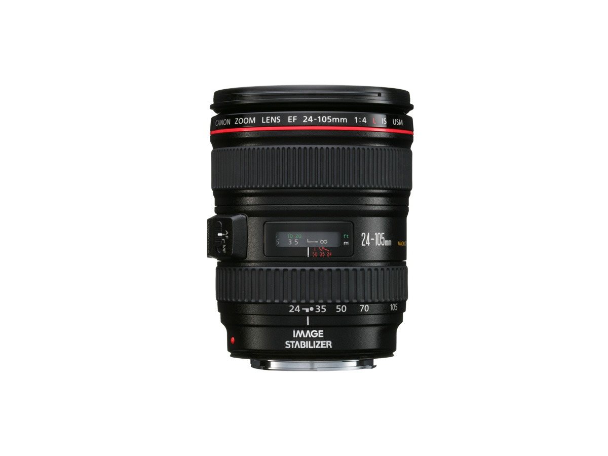 Side view of Canon EF 24-105mm f/4L IS USM lens