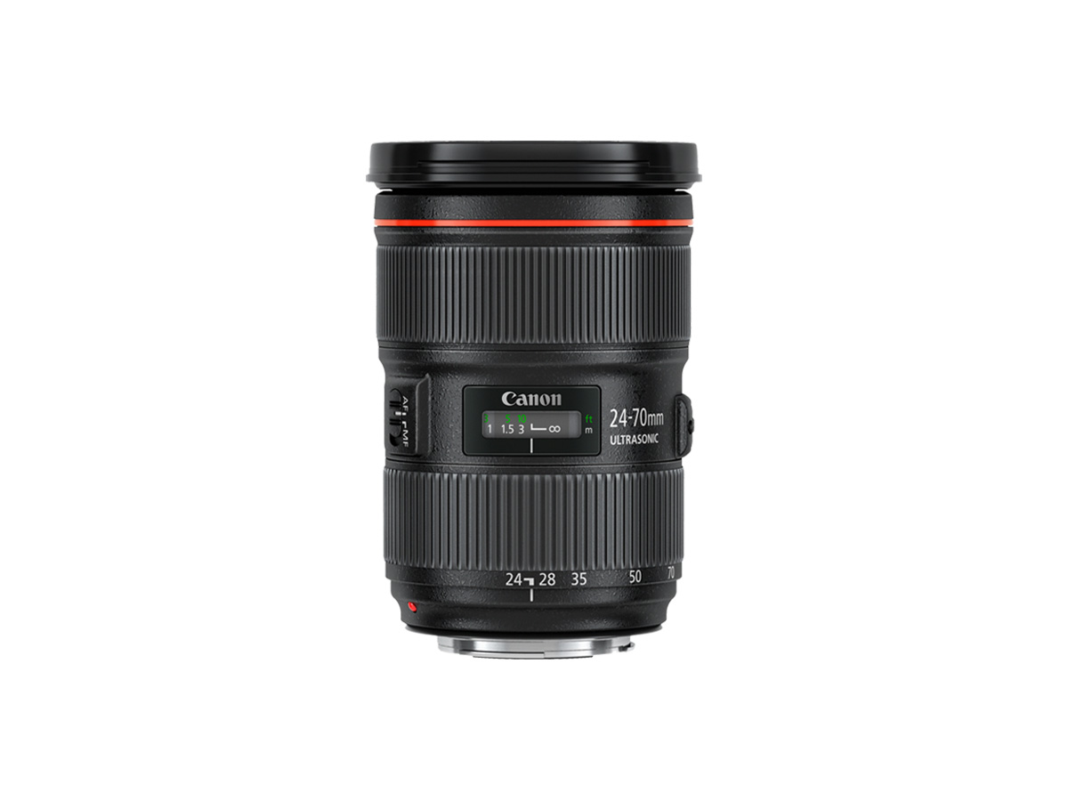 Side view of Canon EF 24-70mm f/2.8L II USM lens