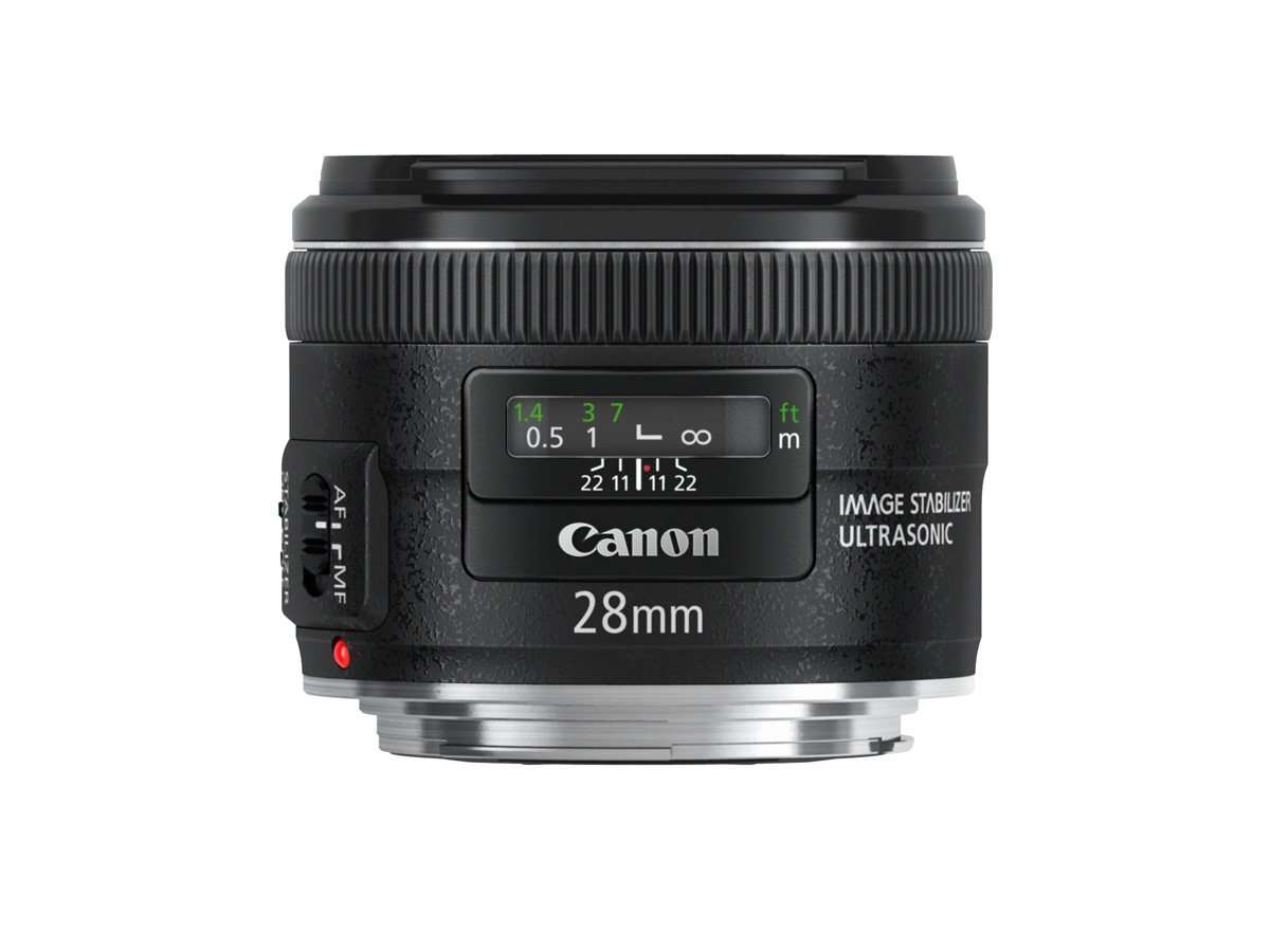 Side view of EF 28mm f/2.8 IS USM Lens
