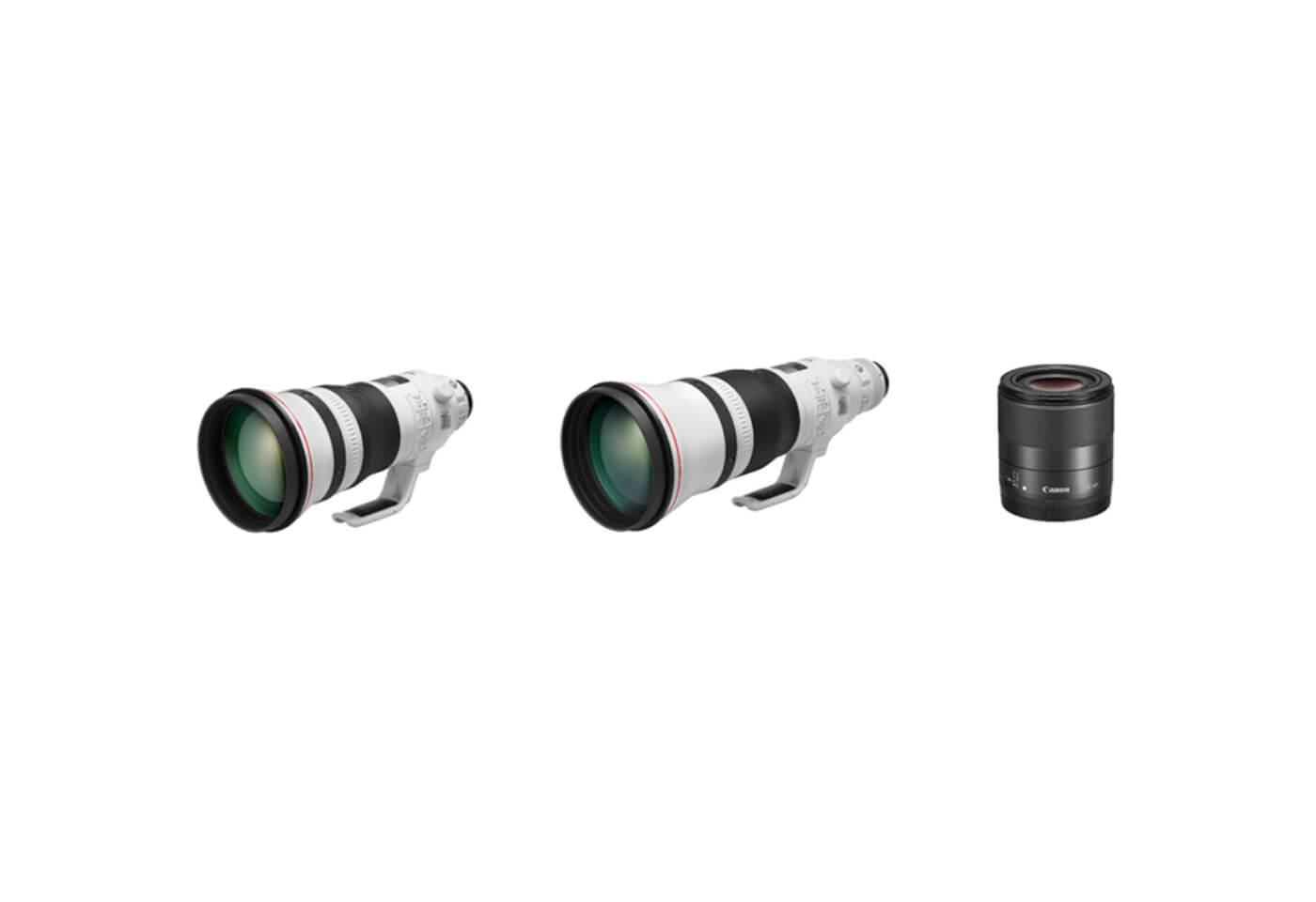 Product image of EF 400mm f/2.8L IS III USM, EF 600mm f/4L IS III USM and EF-M 32mm f/1.4 STM