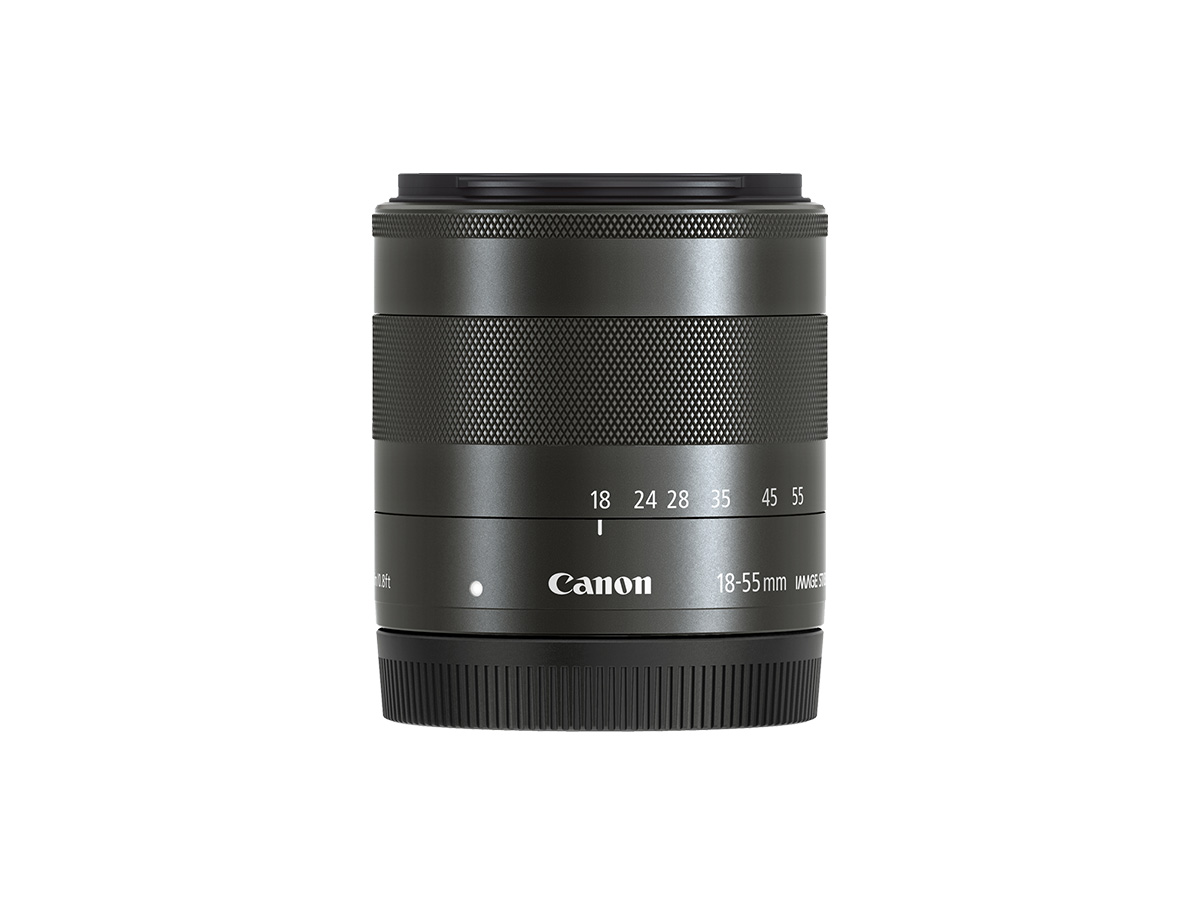 Side view of Canon EF-M 18-55mm f/3.5-5.6 IS STM lens