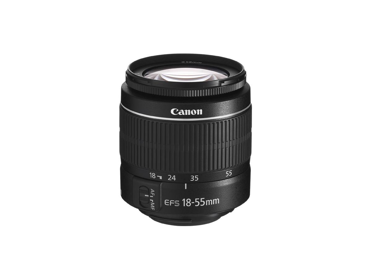Side view of Canon EF-S 18-55mm f/3.5-5.6 III lens