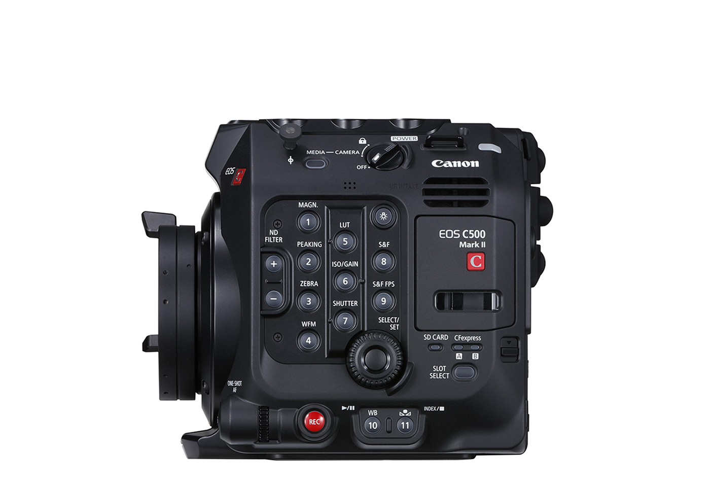 Side profile image for EOS C500 Mark II