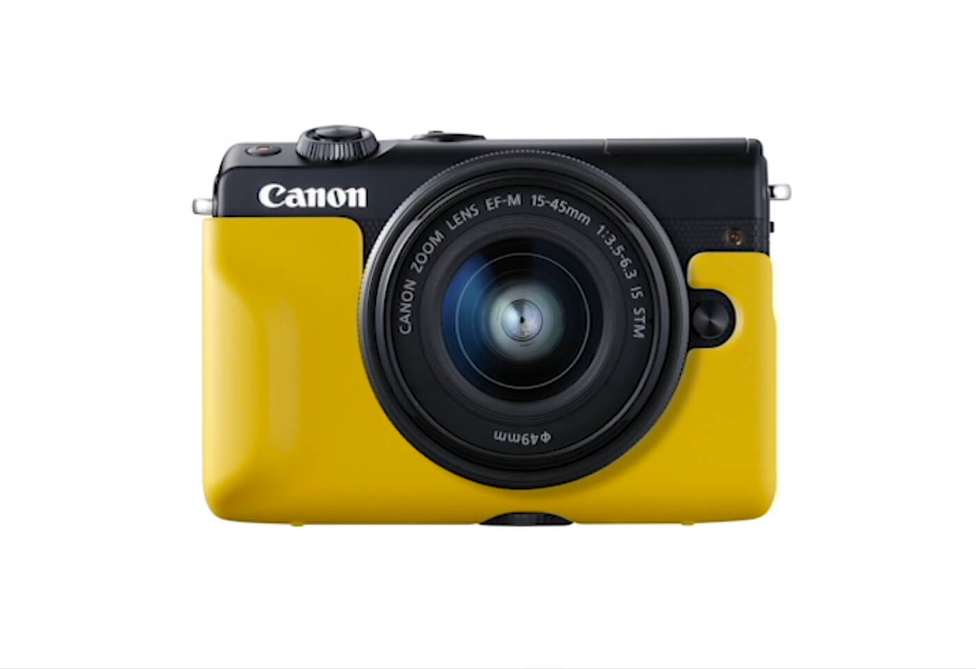 Image of EOS M100 in yellow case