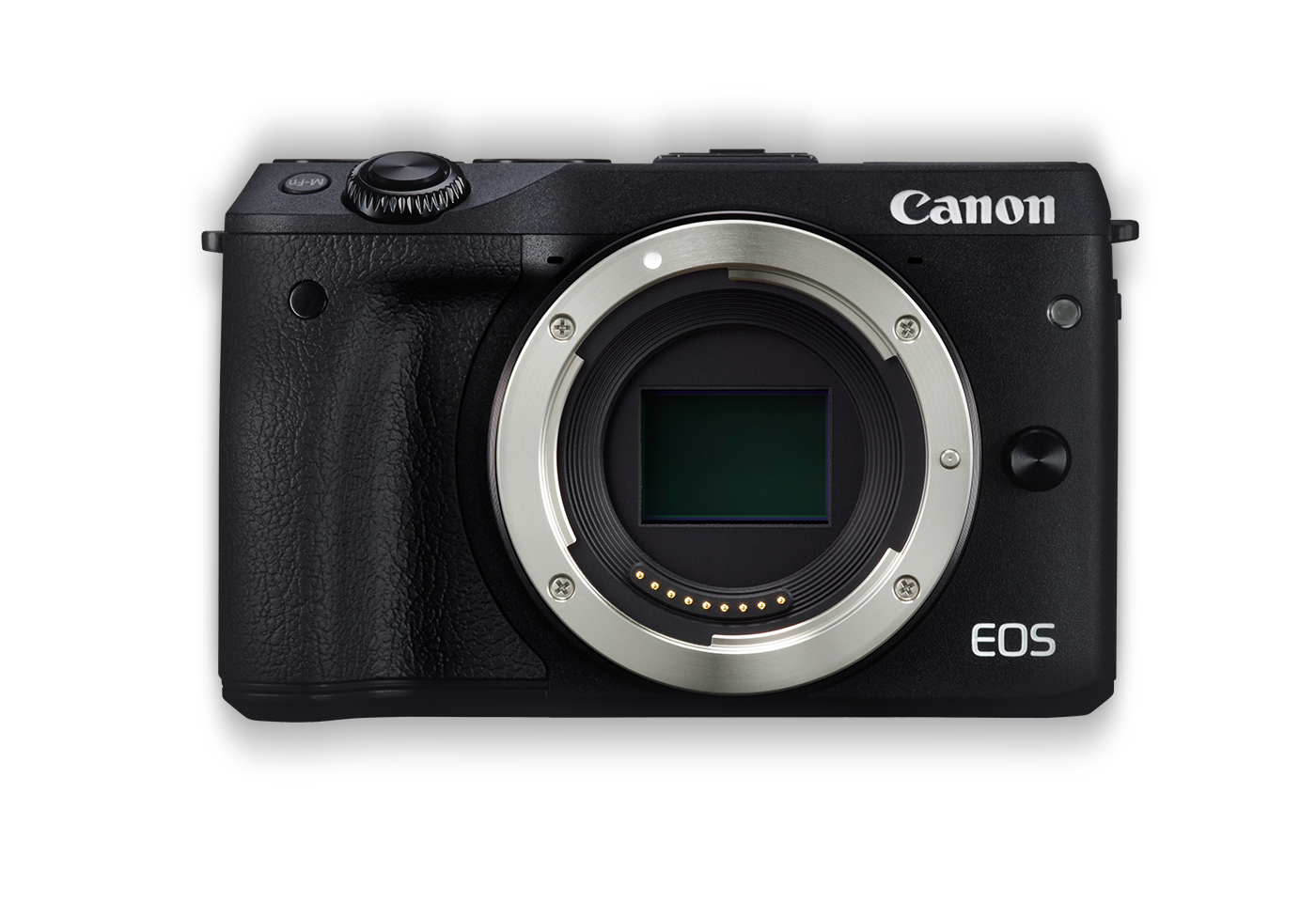 Front of Canon EOS M3 compact camera