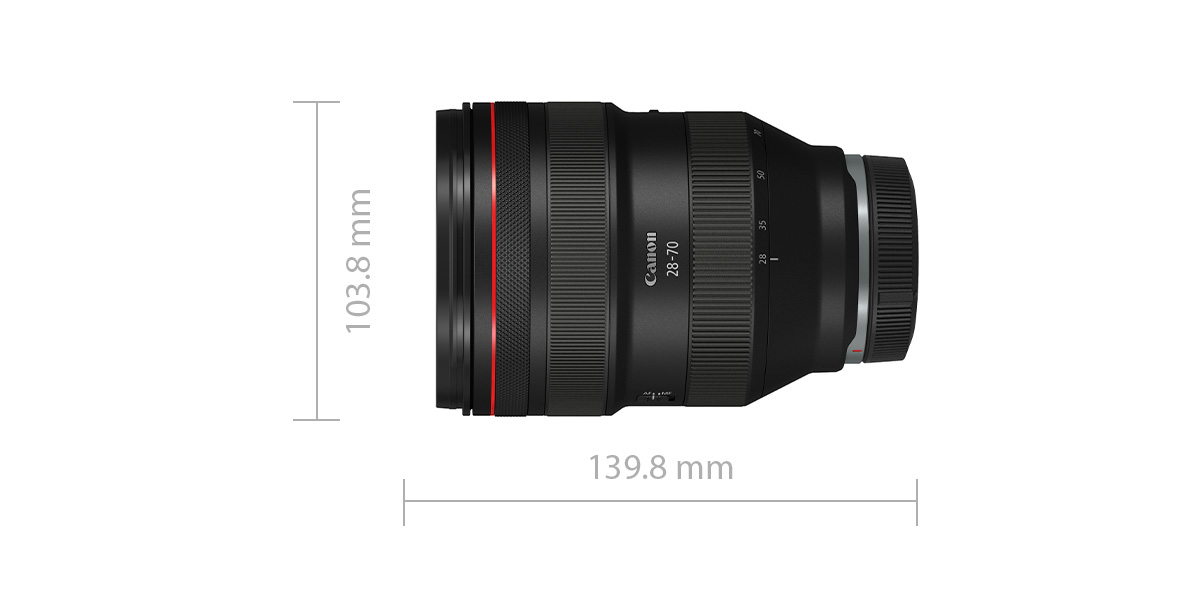RF 50mm f/1.2 L USM length and width specifications