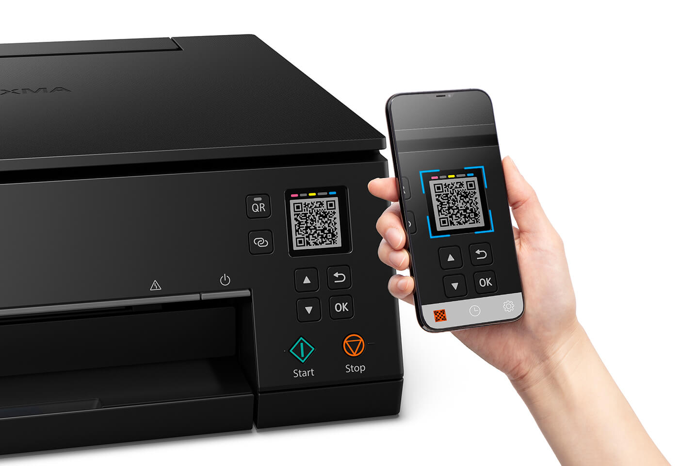 Print wirelessly with QR code