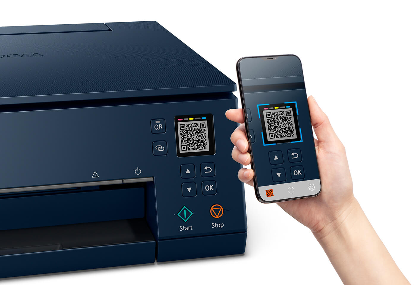 Print on a PIXMA HOME TS6365 wirelessly with QR code