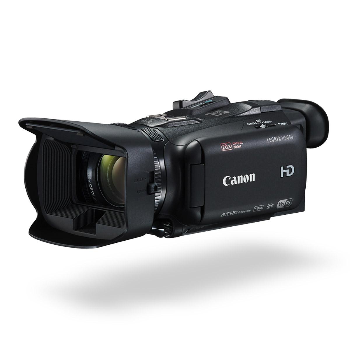 Canon LEGRIA HF G40 digital video camera black front angled
