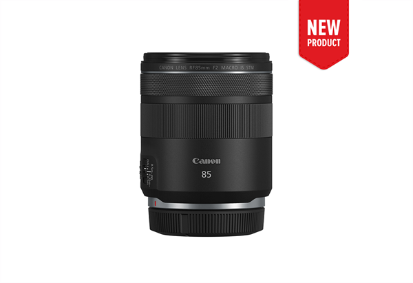 Product image of the new RF 85mm f/2 Macro IS STM macro lens