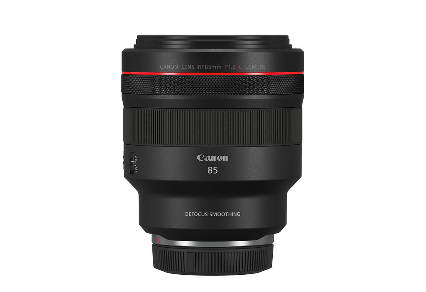 Product image of RF 85mm f/1.2L USM DS prime lens front face