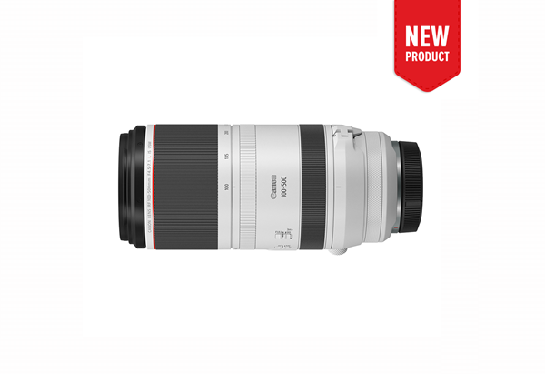 Product image of the new RF 100-500mm f/4.5-7.1 L IS USM telephoto lens