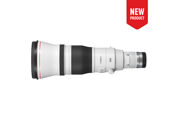 Product image of the new RF 600mm f/4 L IS USM telephoto lens
