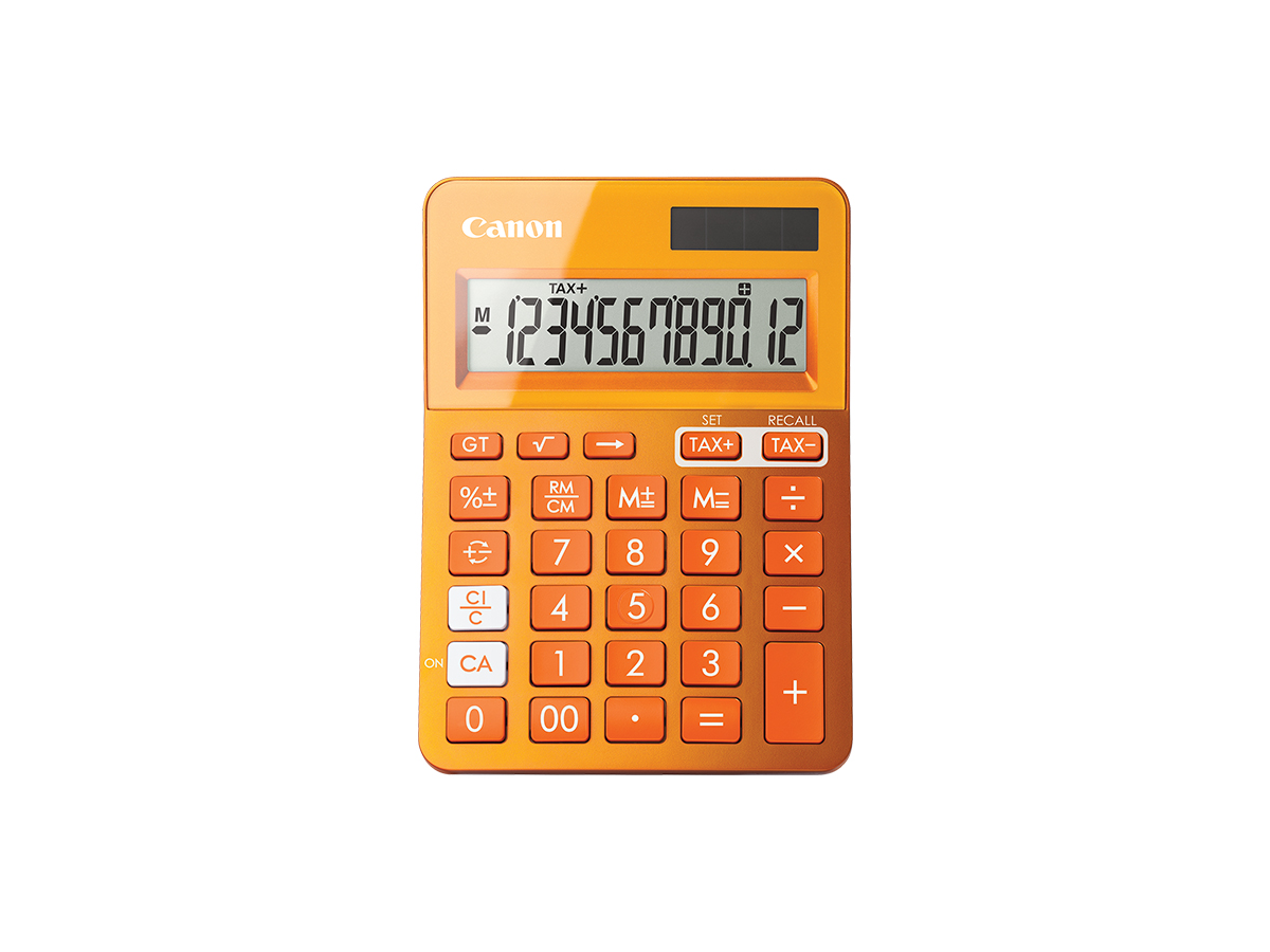 LS-123K calculator orange front