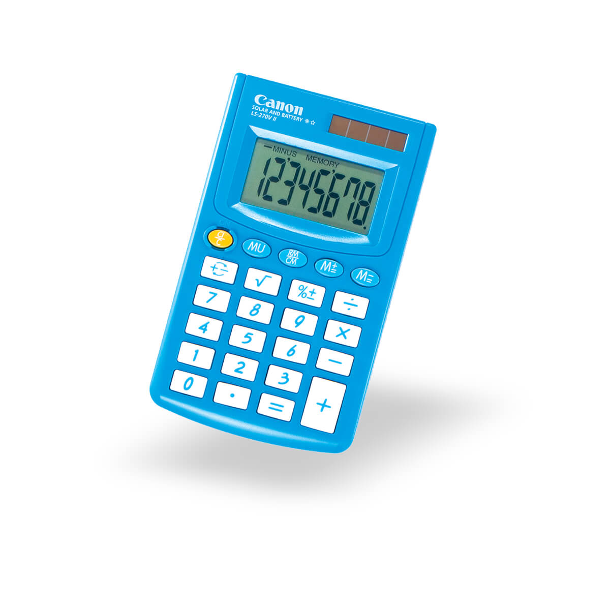 Canon LS-270VII pocket calculator in blue