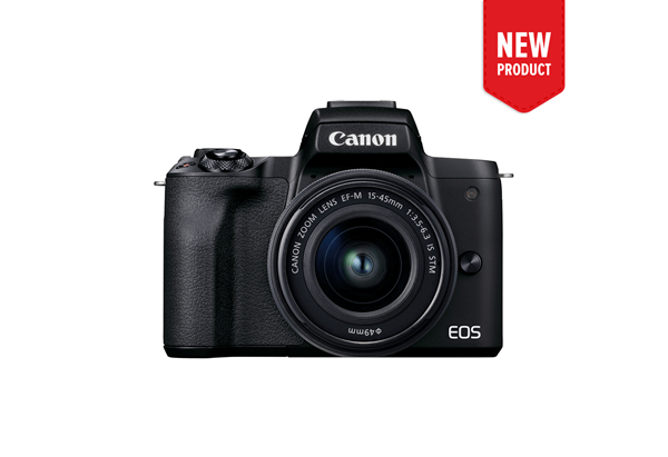 Product image of the new EOS M50 Mark II mirrorless camera