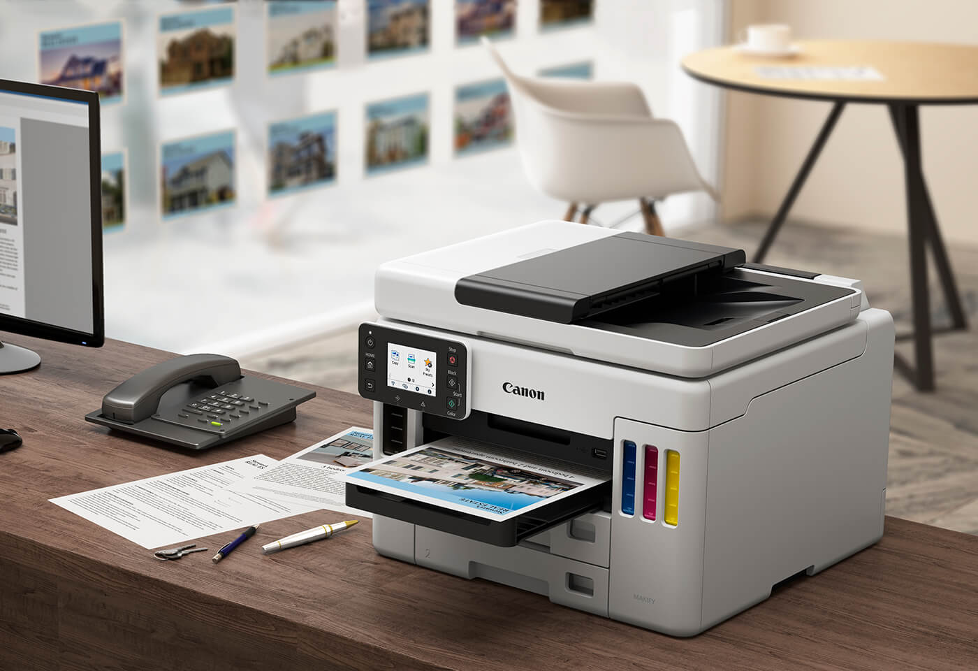 The MAXIFY GX7060 MegaTank maximum power consumption while printer is in use is less than 10%