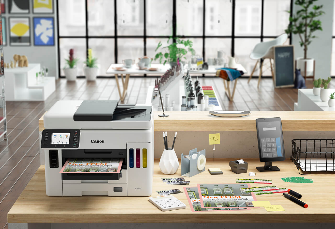 With MAXIFY GX7060MegaTank, users can print, scan, copy, and connect to the cloud via the Canon PRINT app