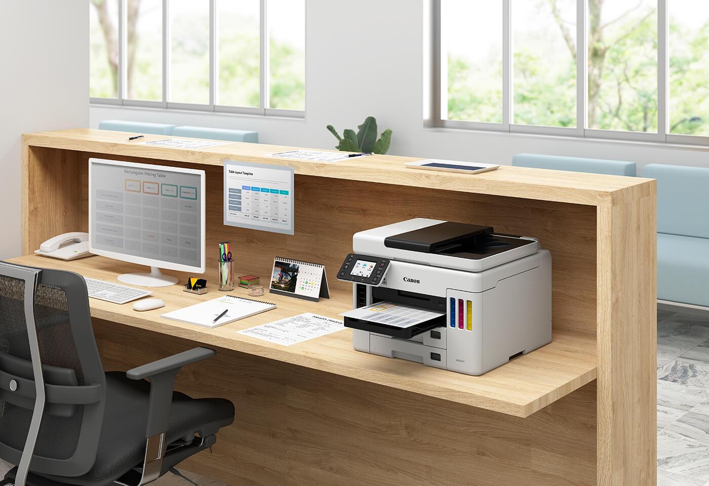 MAXIFY GX7060 MegaTank printer on work desk