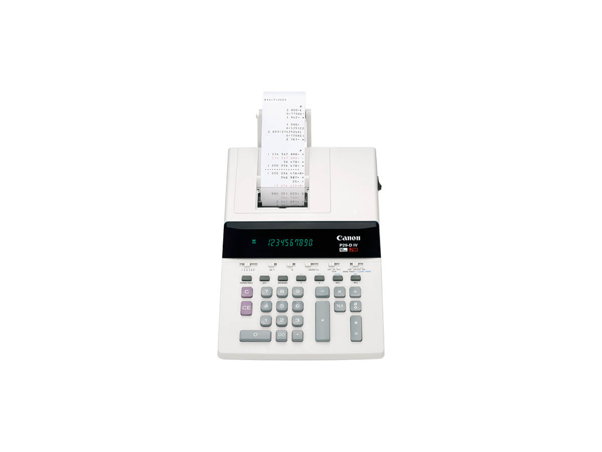 Canon P29-D IV desktop printing calculator