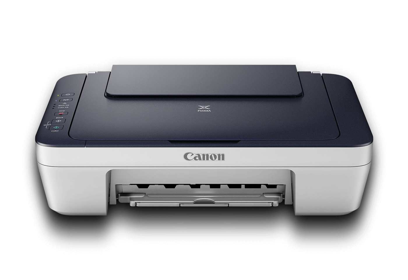 Canon PIXMA MG2965 Inkjet All-in-One printer white with blue lid front