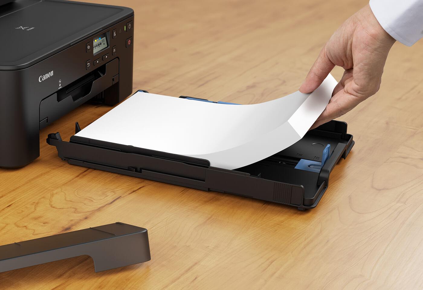 Loading paper tray on PIXMA TS706