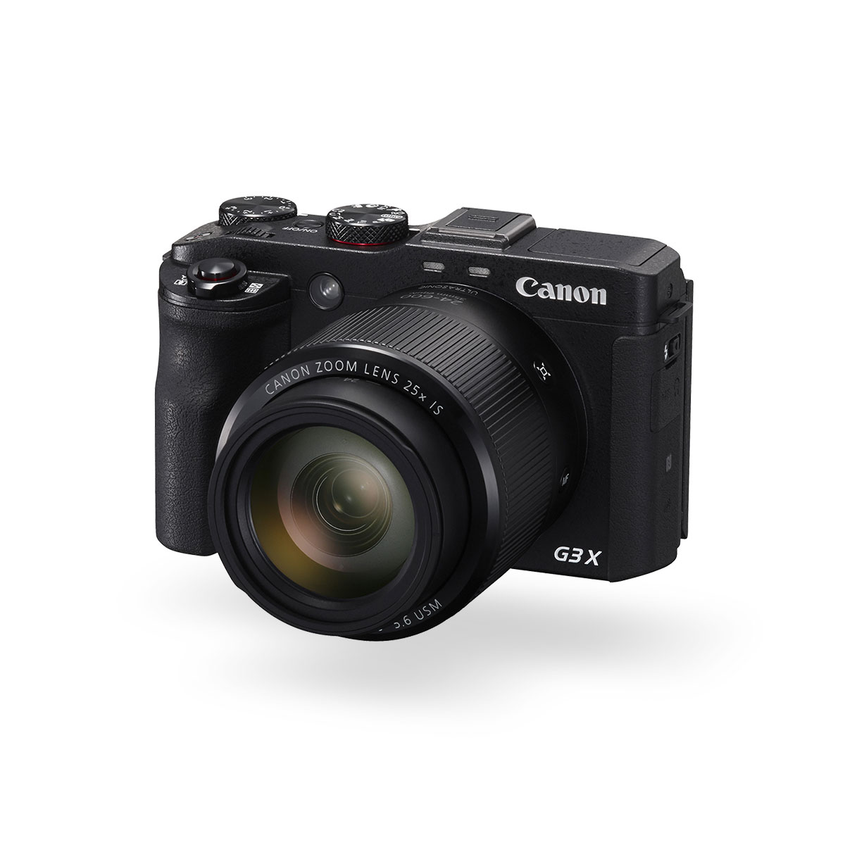 Canon PowerShot G3 X black front angled