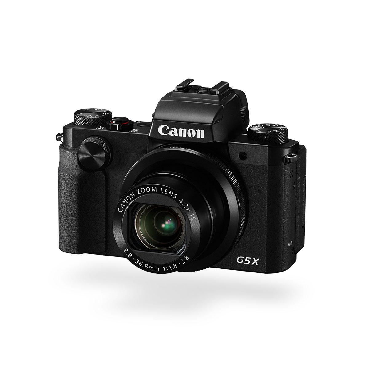 Canon PowerShot G5 X black front angled