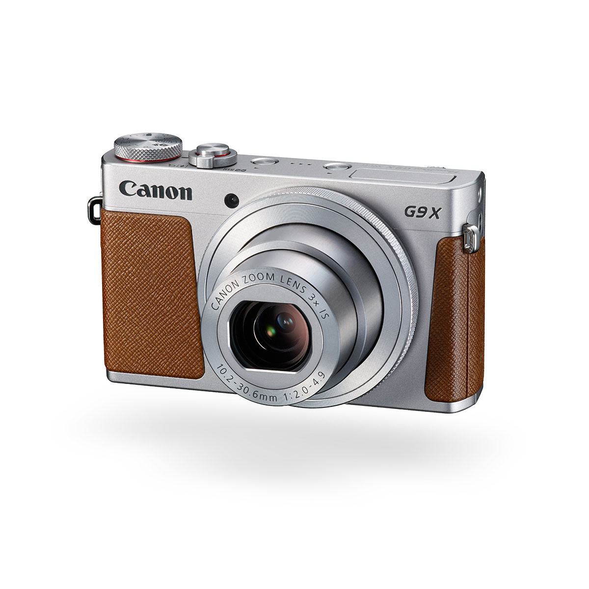 Canon PowerShot G9 X silver front angled