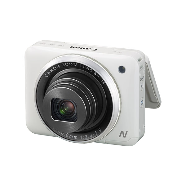 PowerShot N2 white front angled with screen out