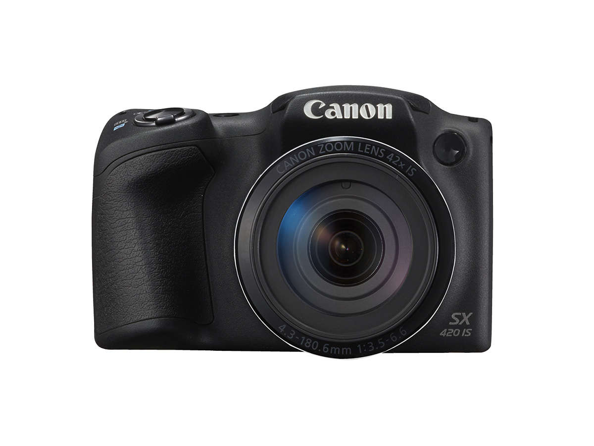 Canon PowerShot SX420 IS digital compact camera black front