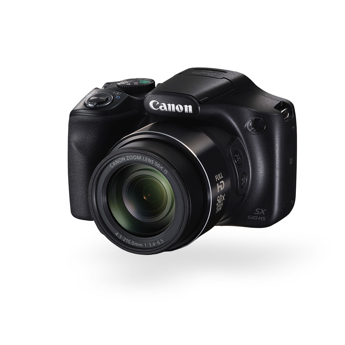 Canon PowerShot SX540 HS digital compact camera black front angled