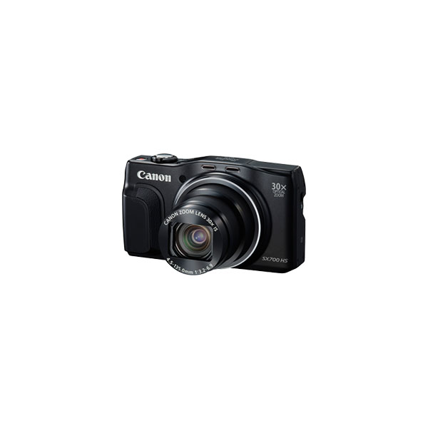Canon PowerShot SX700 HS Digital Camera Front View on Angle with Lens