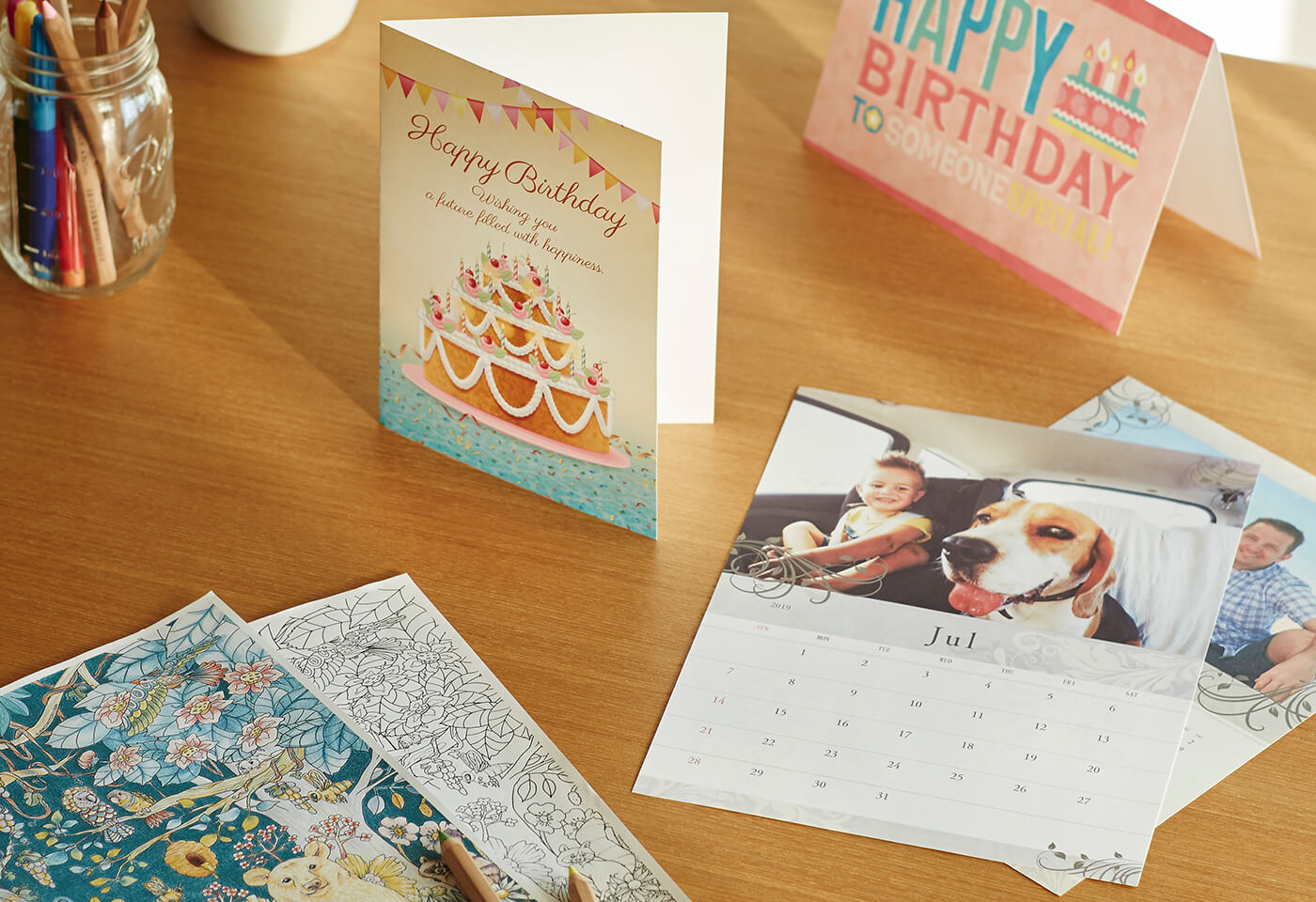 Calendar and cards printed on the PIXMA HOME TS8260