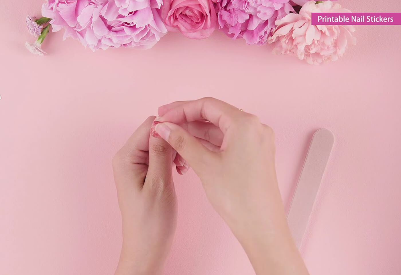 Printable nail stickers on the PIXMA HOME TS9560