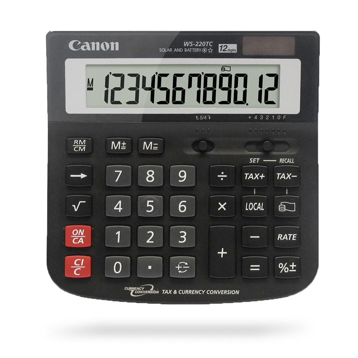 Canon large WS-220TC desktop calculator