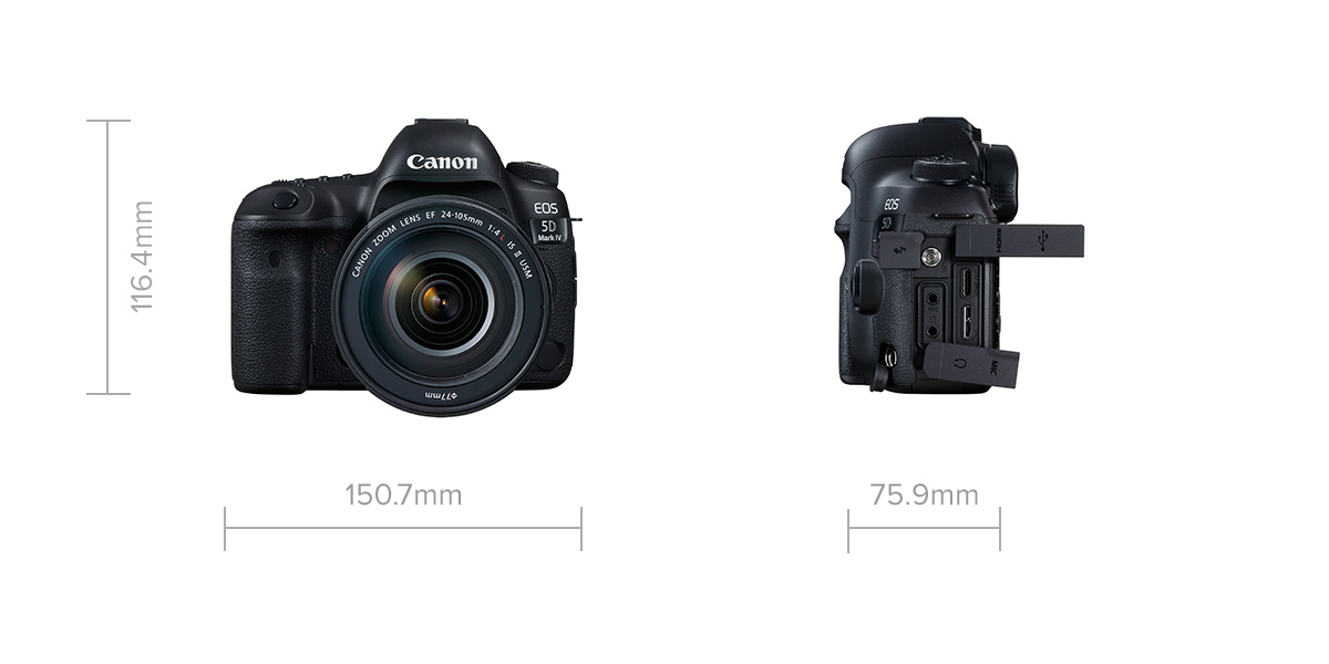 EOS 5D Mark IV dimensions