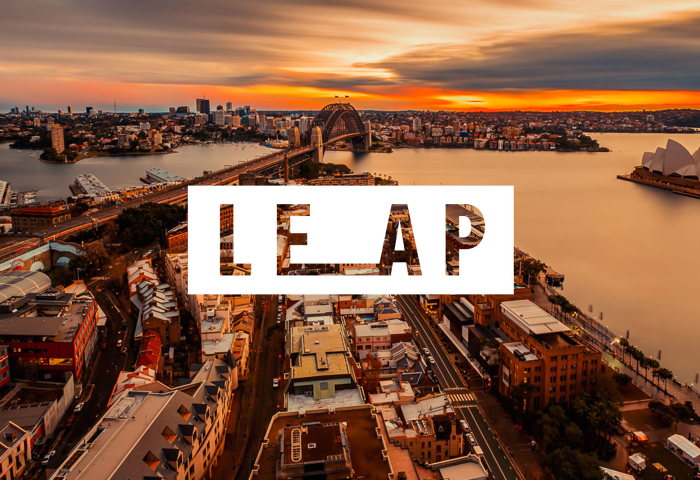 Aerial landscape image of Sydney Harbour for LEAP by Beau Weti