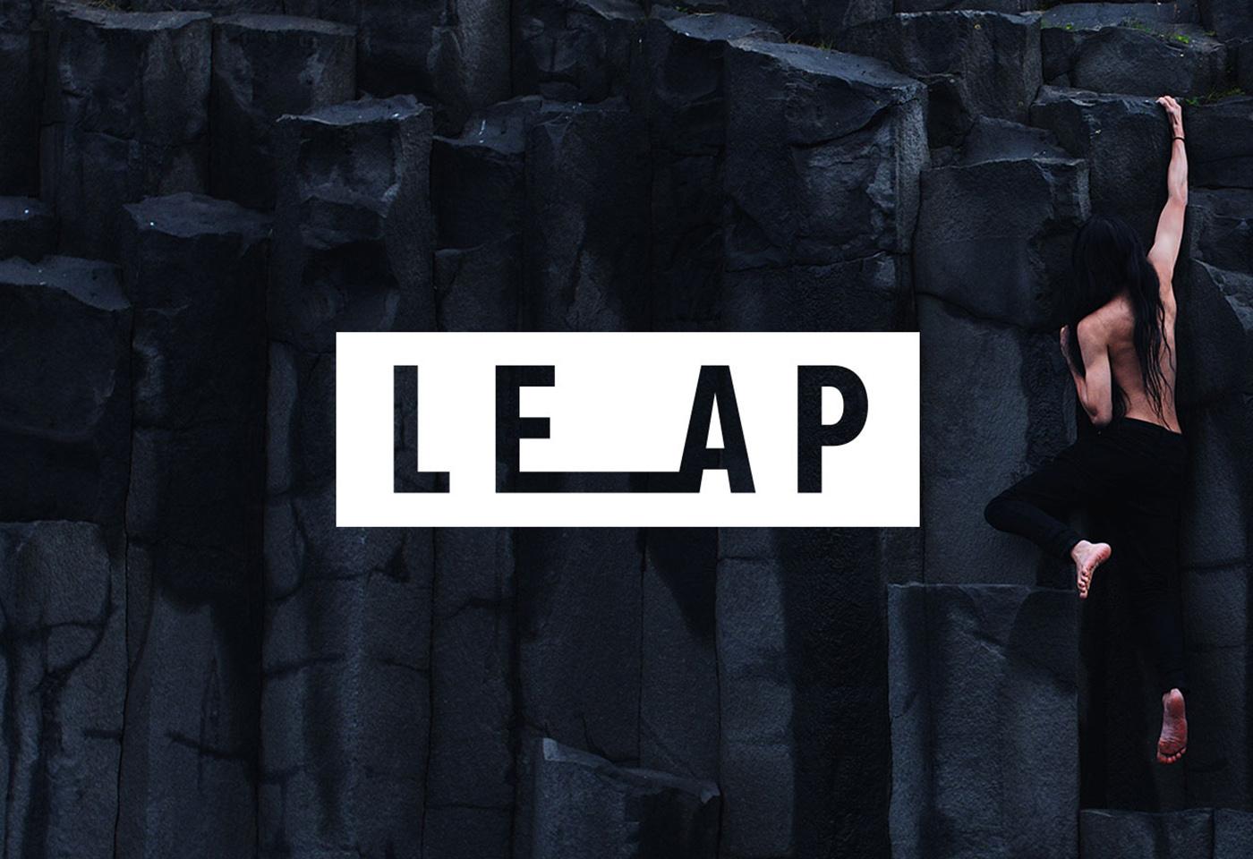 Man climbing mountain for LEAP by Jarrad Seng
