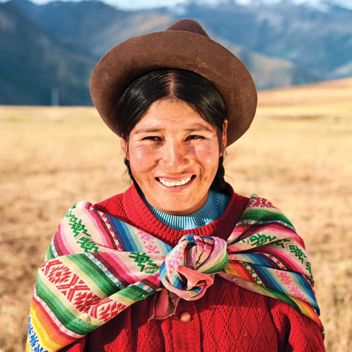 Portrait image of Peruvian woman