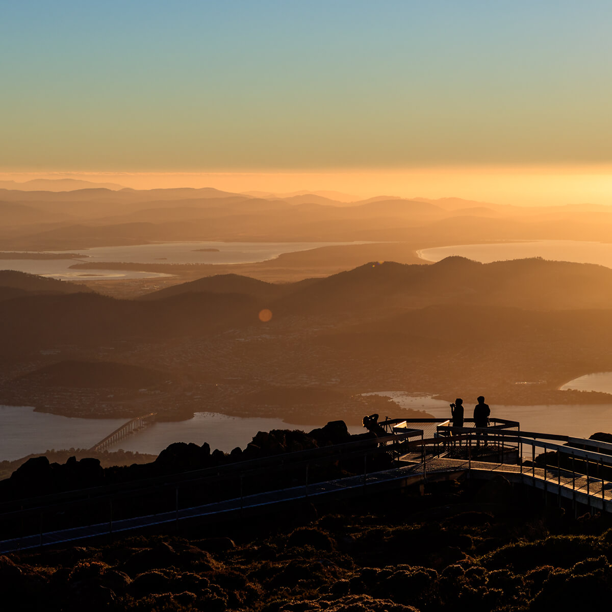 Landscape image of Hobart sunrise