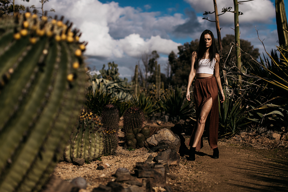 fashion image of woman in desert