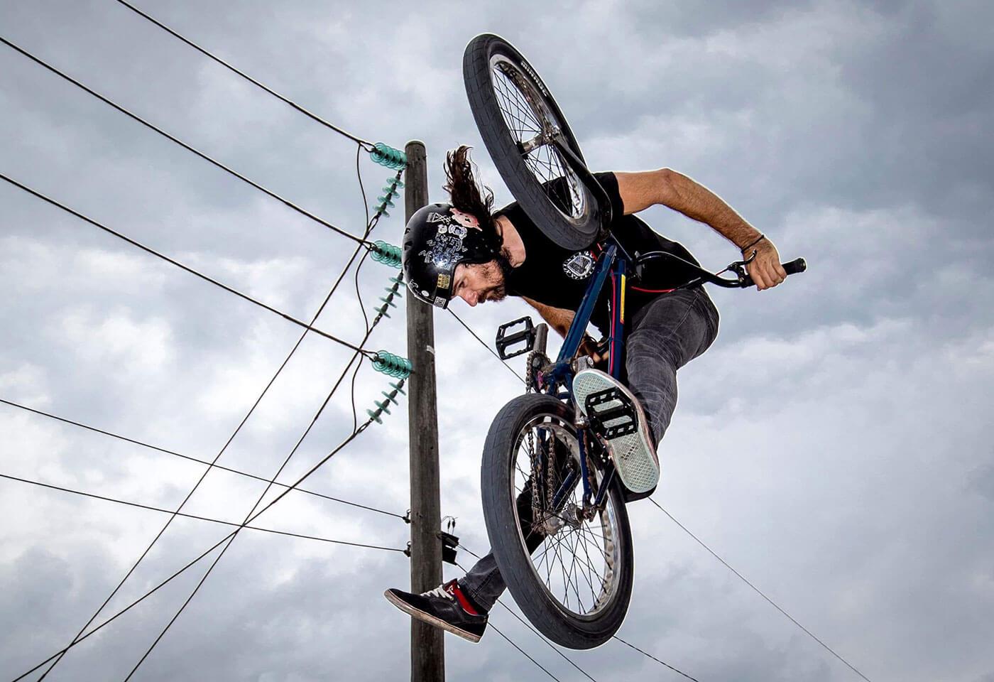 BMX biker doing tricks