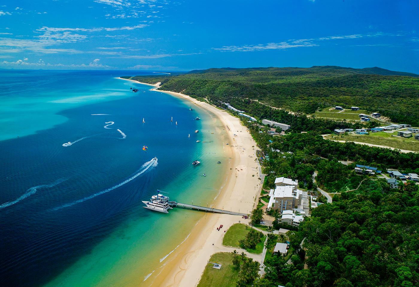 Aerial image Moreton Island beach